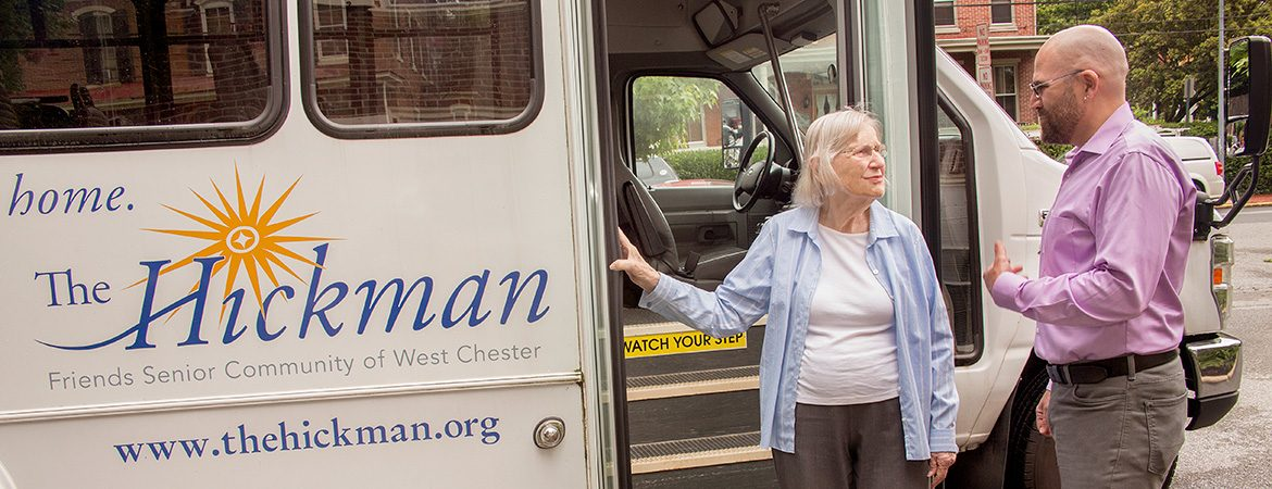 The Hickman provides local transportation for residents.