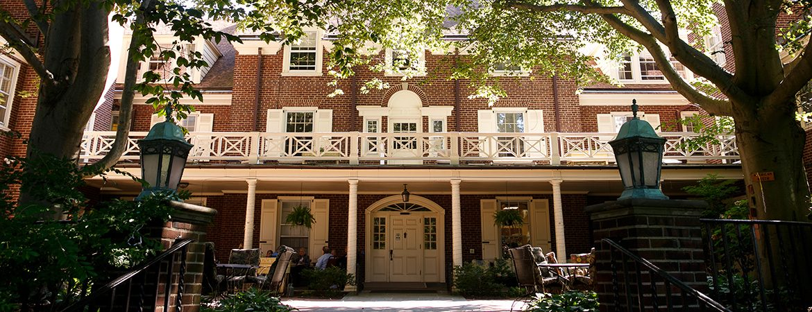 Image of the outside of The Hickman building with 40 senior apartments