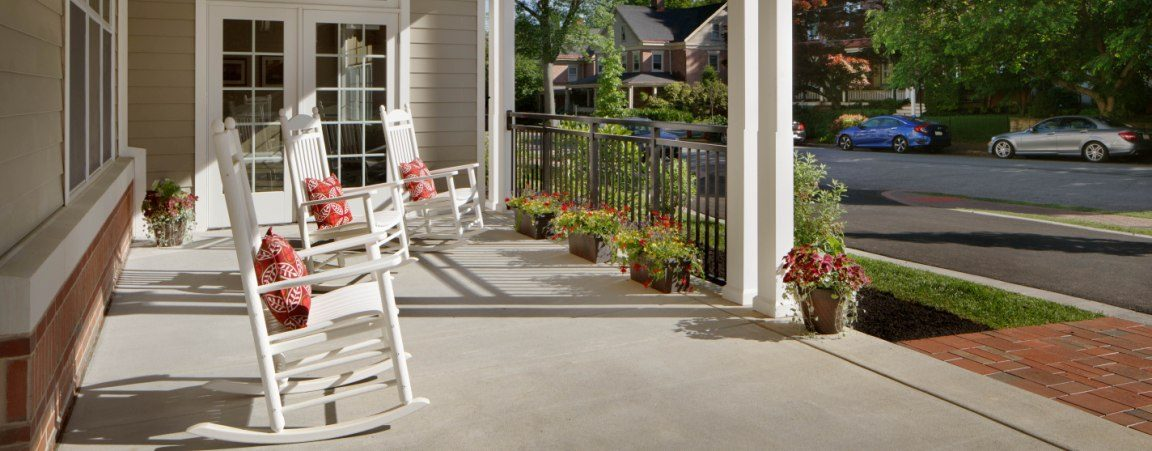 Image of the porch at The Hickman - a personal, senior care home in West Chester, PA
